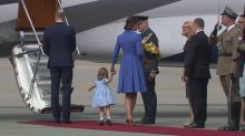 Princess Charlotte steals show on Royal tour with curtsy and handshake as she receives posy of flowers