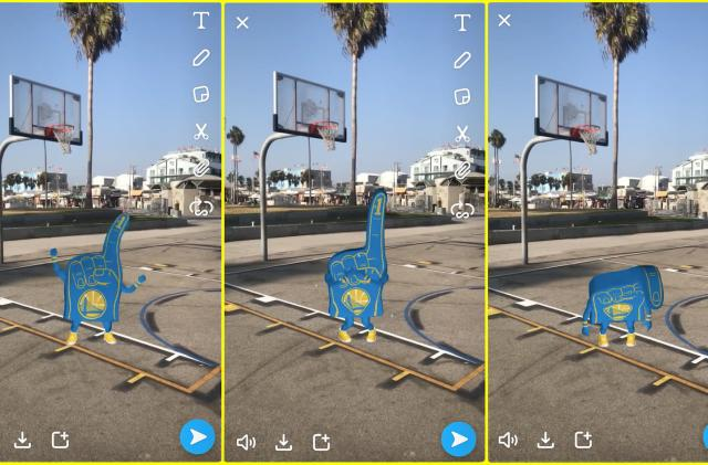 Snapchat has cute AR foam fingers for you to wave at NBA games