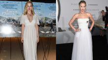 Why is Jennifer Lawrence wearing a wedding dress?