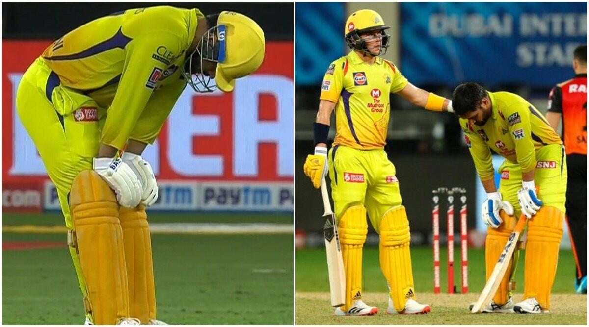 Ms Dhoni Struggles During Chennai Super Kings 7 Run Loss To Sunrisers Hyderabad In Ipl 2020 Heartbroken Fans React With Sad Gifs And Images After Watching Their Hero Grapple With Tough Conditions