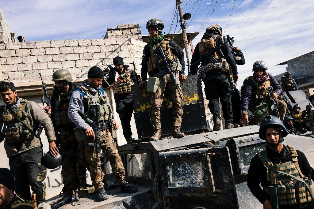 Iraqi elite forces have in recent days entered the last neighbourhoods on the eastern side of Mosul, on the left bank of the Tigris River that runs through the city (AFP Photo/Dimitar Dilkoff)
