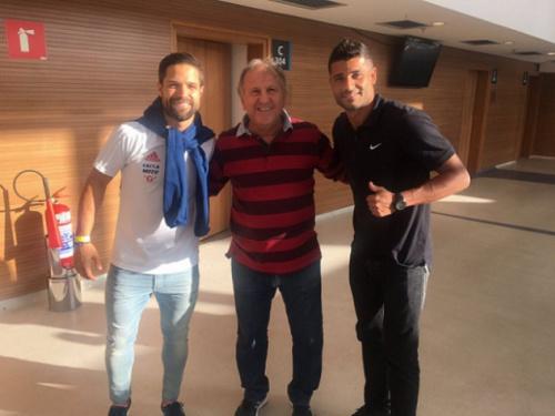 Nas redes sociais, Zico deseja boa recuperação para Diego e Ederson