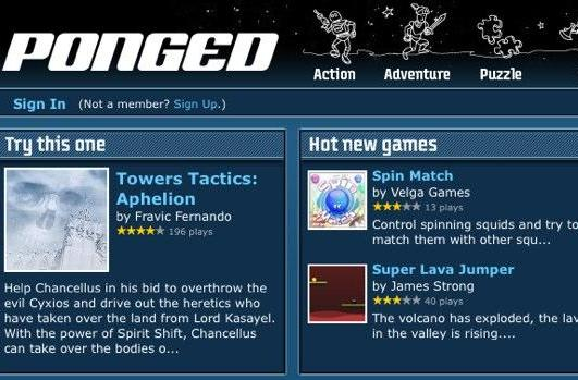 GameFly launches Flash game site Ponged.com