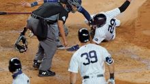 Yanks beat Rays, benches empty after Chapman's brush back