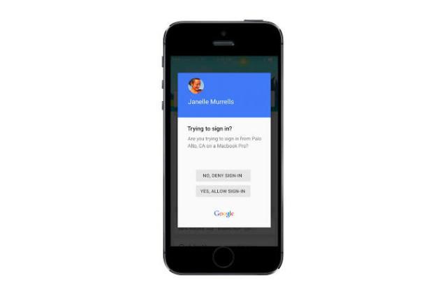 Google improves two-step verification on phones