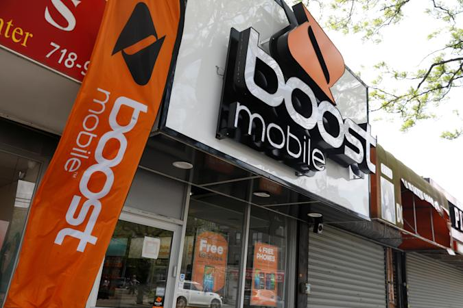 The storefront of a Boost mobile phone store is seen in the Brooklyn borough of New York, U.S., May 20, 2019. REUTERS/Shannon Stapleton
