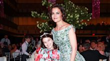 Katie Holmes and 12-year-old daughter Suri Cruise wear coordinated outfits to the ballet