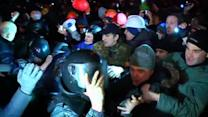 Clashes erupt in Ukraine protest