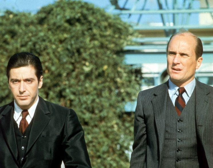 Al Pacino and Robert Duvall in The Godfather, 1972