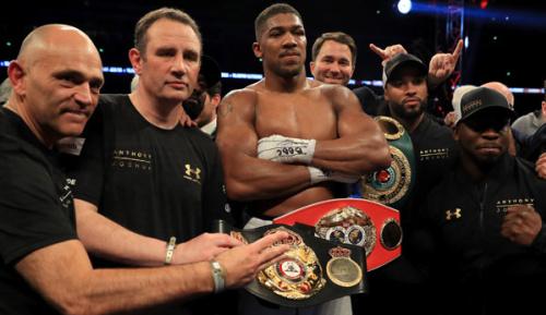 Boxen: Joshua würde für Rückkampf gegen Klitschko IBF-Gürtel abgeben