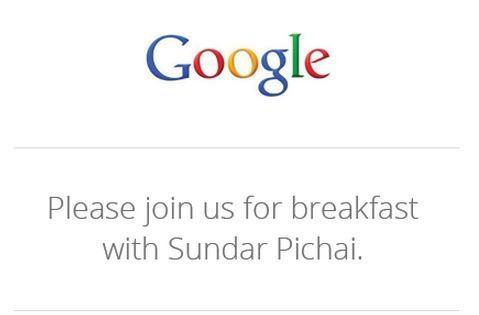 Google's 'breakfast with Sundar' is today at noon ET, get your liveblog here!