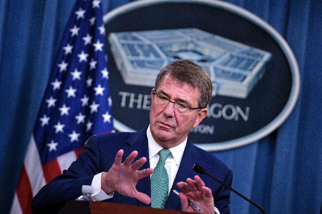 Pentagon chief Ashton Carter (AFP Photo/Brendan Smialowski)