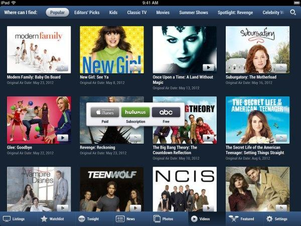 TV Guide Mobile relaunches for iOS with a new look, links to streaming video and social networks