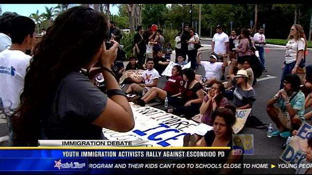 Youth immigration activists rally against Escondido police