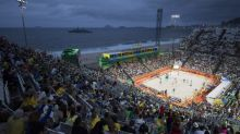 LA Lakers DJ gets the beach volleyball party started in Rio