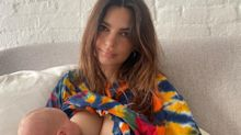 Emily Ratajkowski Says She's 'Always Breastfeeding' Baby Sylvester as She Shares New Photos of Her Son