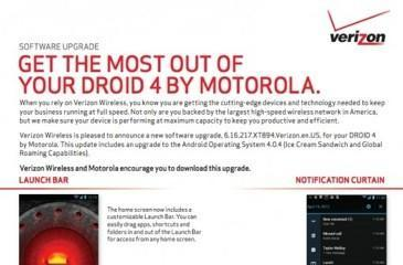 Motorola Droid 4's Android 4.0 upgrade clears Verizon hurdles, brings global roaming soon (update: starts today)
