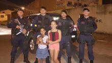 Menina pede cesta básica de Dia das Crianças e policiais ajudam
