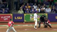 Georgia pitcher channels 50 Cent with very wild pitch