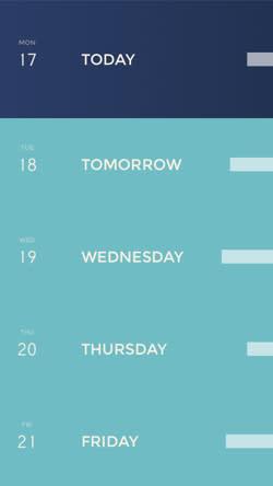 Peek is a very pretty calendar for iPhone