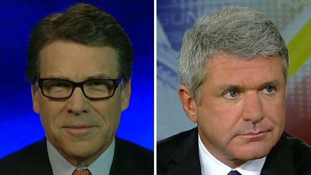 Gov. Perry, Rep. McCaul talk border crisis