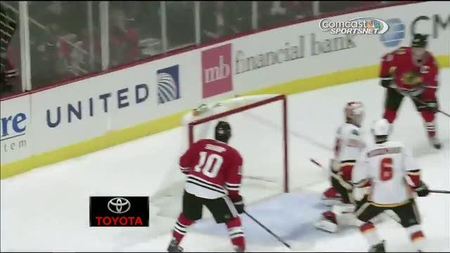 Marian Hossa buries the one-timer