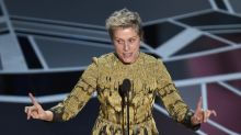 Frances McDormand loses her Oscar at Governors Ball