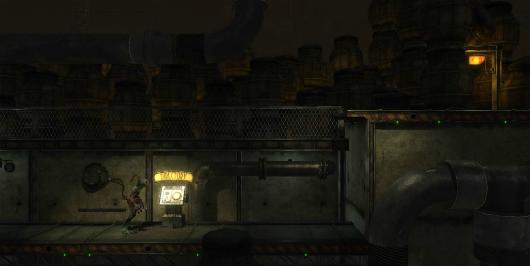 Explore the first screen of the Oddworld: Abe's Oddysee remake