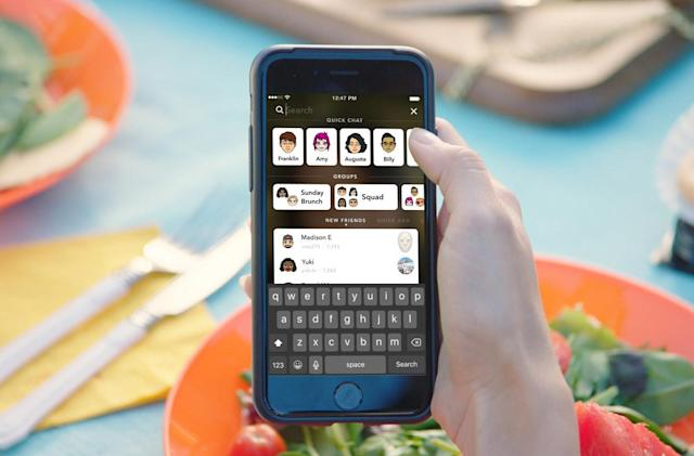 Snapchat's new universal search bar is built for speed