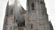 Man in custody over France cathedral fire