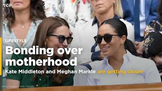 5d5ddc2a8b9a We Totally Missed Kate Middleton Comforting Meghan Markle After Serena  Williams's Wimbledon Loss