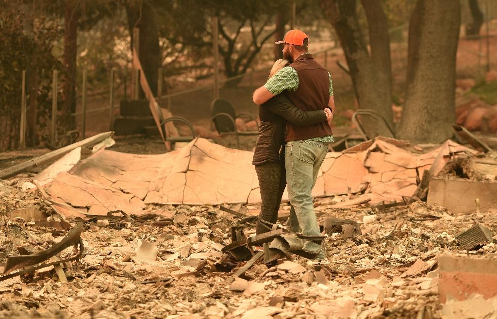 Most residents of Paradise, like Chris and Nancy Brown, lost everything (AFP Photo/Josh Edelson)