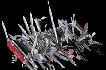 Giant Swiss Army Knife offers 85 tools