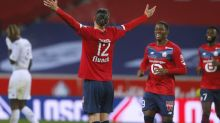 Lille moves up to 2nd after Lorient rout; Lyon unbeaten in 8