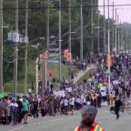 Thousands rally over Muslim family killed in Canada