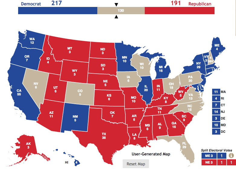 270 to win presidential polls by state