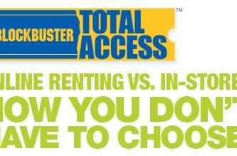 Blockbuster's Total Access plan allows in-store returns of mailed movies