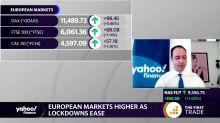 European markets higher as lockdowns ease