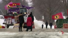 Railway blockade remains after protesters meet with Indigenous Services Minister