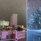 Las Vegas snow: Up to 2 inches of snow falls on strip for 1st time in decade