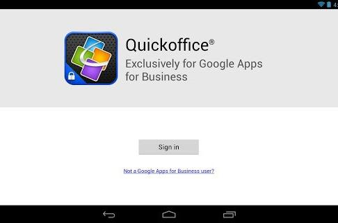 Quickoffice on Android and iPhone now free for Google Apps for Business users