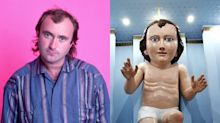 People are convinced this statue of baby Jesus looks like Phil Collins: 'It was all decided in Genesis'