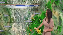 Thunderstorm chances increase as Ivo moves closer