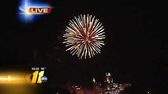 Raleigh celebrates 4th with fireworks