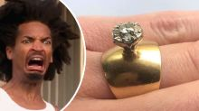 'Door knob' 80s wedding ring trolled as 'ugliest ever'