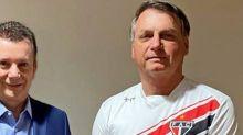 Antes da alta, Bolsonaro recebeu visita de Russomanno no hospital