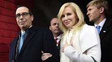 Mnuchin's wife touts fashion labels, slams critic