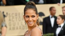 Halle Berry stole the show at the 2018 SAG Awards in a sequined Pamella Roland gown