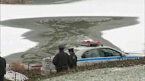 2 men, officer, fall through ice on Central Park pond