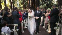 Hilary Swank se casa de sorpresa y su vestido es un sueño